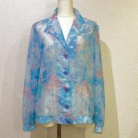 シアー・フラワー・シャツジャケット(1970s France デッドストック)