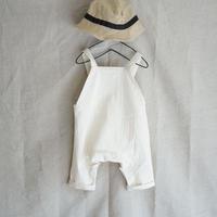 baby salopette/white