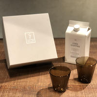 SPECIAL GIFT SET * リキッドコーヒー+グラス2個 ( コゲチャ × 2 )