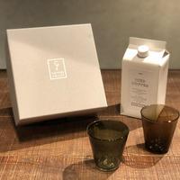SPECIAL GIFT SET * リキッドコーヒー+グラス2個( グリーングレー + コゲチャ )