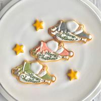 アイシングクッキー  寝坊助サンタ