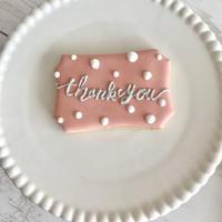 アイシングクッキー thank   you 10枚セット