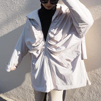 reversible ruched coat