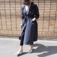 hooded spring coat  NAVY