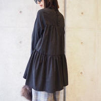 再入荷tiered long sleeve blouse BLACK