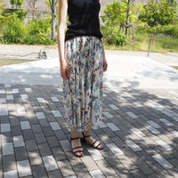 flower printed pleated skirt