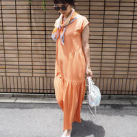 tiered maxi dress ORANGE