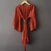pleated satin blouse RENGA