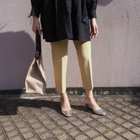 tapered ankle pants YELLOW