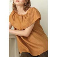 big collar blouse CAMEL