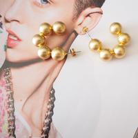 ball chain hoop earrings