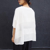 border wide cutsew WHITE