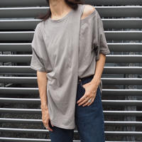 open  shoulder asymmetric top GRAY