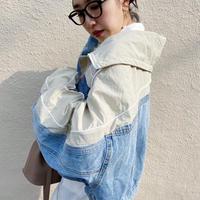 volume sleeve asymmetrical jacket