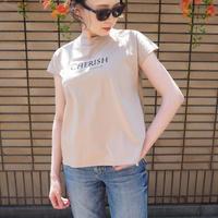 mercerized cotton T BEIGE