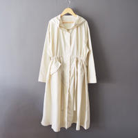hooded spring coat  IVORY