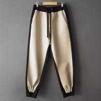 再入荷faux leather design pants