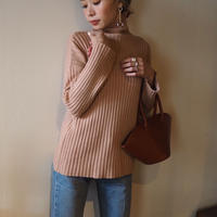 再入荷soft feel turtleneck sweater SALMON PINK