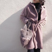 boa × eco fur coat