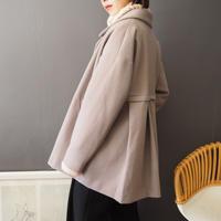 back pleats breasted coat