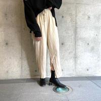 wrinkle processing pants BEIGE