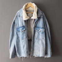 2way big denim jacket