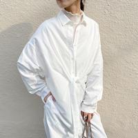 front ribbon design shirtOP WHITE