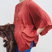 pleated satin blouse RENGA