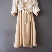 see through color shirt dress  PINK-BEIGE