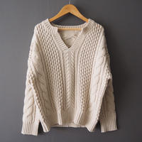 cable knit sweater IVORY