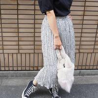 Dalmatian pattern pleated skirt