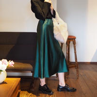 solid colored satin skirt GREEN