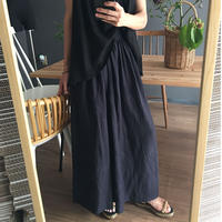 wide leg high waist pants NAVY