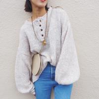 oversized  henry neck sweater