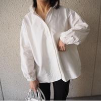 round collar voluminous sleeve shirt  WHITE