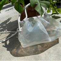 vinyl shoulder bag WHITE