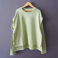cut out sleeve sweatshirt GREEN