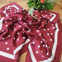 polka dot scarf WINE