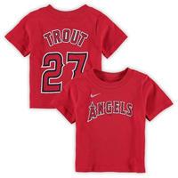 メジャーリーグ エンゼルス Tシャツ マイク トラウト 1歳 2歳 出産祝い ギフト セット Los Angeles Angels T-shirt 送料無料