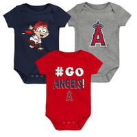 メジャーリーグ エンゼルス ロンパース ベビー 3着セット 出産祝い ギフト セット Los Angeles Angels Bodysuit 送料無料