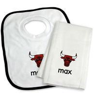 NBA シカゴブルズ スタイ よだれかけ タオル セット 出産祝い Chicago Bulls Set ベビー キッズ ギフト 送料無料