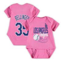 メジャーリーグ ドジャース ベビー ロンパース ピンク ギフト 出産祝い 0歳 1歳 2歳 Los Angeles Dodgers Romper 送料無料