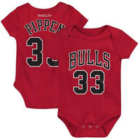 NBA ブルズ ロンパース 出産祝い 0歳児 ピッペン Chicago Bulls Bodysuit Pippen ベビー キッズ ギフト 送料無料