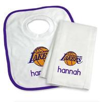 NBA レイカーズ スタイ よだれかけ タオル 出産祝い Los Angeles Lakers Set ベビー キッズ ギフト 送料無料 通販 WSC SPORTS LOUNGE