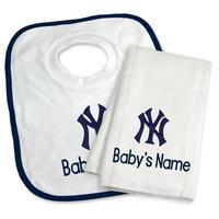 メジャーリーグ ヤンキース ベビー タオル スタイ よだれかけ ギフト セット 出産祝い New York Yankees Set 送料無料