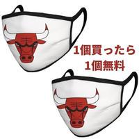 シカゴ・ブルズ マスク NBA フェイスカバー 1枚購入でもう1枚プレゼント!