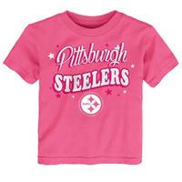 NFL スティーラーズ キッズ Tシャツ ピンク ギフト アメフト 1歳 2歳 女の子 送料無料