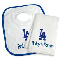 メジャーリーグ ドジャース ベビー タオル スタイ よだれかけ ギフト セット 出産祝い Los Angeles Dodgers Baby 送料無料