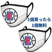 ロサンゼルス・クリッパーズ マスク NBA フェイスカバー 1枚購入でもう1枚プレゼント!