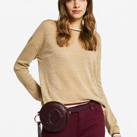 Lame line knit